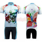 Cycling Bike Short Sleeve Clothing Bicycle Sportwear Suit Jersey + Shorts S-3XL