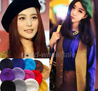 Women's Winter Wool Warm Felt French Beret Beanie Newsboy Berets Hat Cap Tam