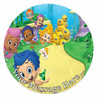 Bubble Guppies Personalised Edible Rice/Icing Cake Topper 7.5 inch Circle