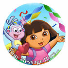 Dora the Explorer Personalised Edible Rice/Icing Cake Topper 7.5 inch Circle