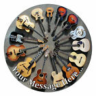 Guitar Personalised Edible Rice/Icing Cake Topper 7.5 inch Circle