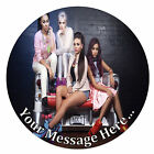 Little Mix Personalised Edible Rice/Icing Cake Topper 7.5 inch Circle