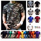 Men HEAVY WEIGHT T-Shirt Plain Crew Neck Fashion Casual Hipster GYM BIG AND TALL image