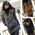 HOT! Womens Long Sleeve Winter Hooded Coat Sweater Outwear Front Zipper Tops M L