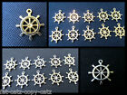 25x Ship Steering Wheel Helm Nautical Jewellery Craft Charms Gold Silver UK Sell