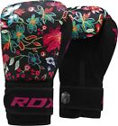 RDX Rex Leather Boxing Gloves Fight Punch Bag MMA Muay Thai Grappling Pads UFC N