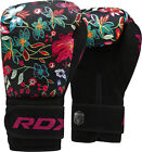 RDX Maya Hide Leather Boxing Gloves Fight Punch Bag MMA Muay Thai Grappling Red