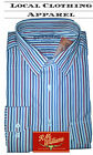 RM Williams Two Pocket Shirt Blue/Red/Navy Stripe