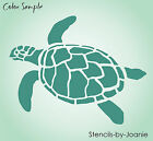 Turtle STENCIL Ocean Sealife Sand Beach Animal Tortoise Wall Art Tattoo U Paint