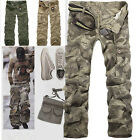 New Men's Cotton Casual Military Army Cargo Camo Combat Work Pants Trousers R49