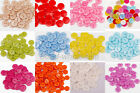 New Wholesale 100pcs Plastic Sewing Buttons Scrapbook 15mm 2 Holes Candy Color