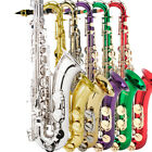 Mendini B Flat Tenor Saxophone Sax Gold Nickel Blue Green Purple or Red +Tuner