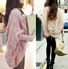 Women's Knitting Batwing Coat Cardigan Loose The Shawl Clothing Thicken Coat