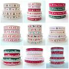 WHOLE ROLLS BERTIE'S BOWS CHRISTMAS RIBBON GROSGRAIN 3m and 25m