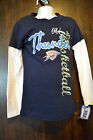 NBA Oklahoma Thunder Girls Layered Look T-shirt Sizes XS (4/5) or M (7-8) NWT