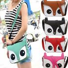 Womens Retro Tote Owl Fox PU Purses Satchel Baguette Handbag Shoulder Bag