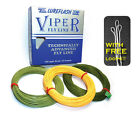 VIPER Quality Boxed Fly Lines & 3 FREE LOOPS for Trout Fly Fishing (RRP £24.99)