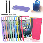 Translucent Ultra-thin 0.2MM Case Cover for iPhone 5 5S + Free Screen Protectors
