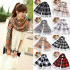 HOT Plaid Classics Checker Long Scarf Soft Wrap Shawl Stole Women Men Large Size
