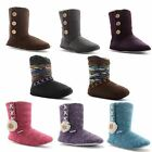 Ladies Coolers Slipper Womens Boots Lined Microsuede Girls Booties Size UK 3-8