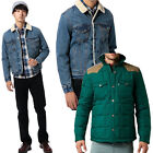 LEVIS JEANS JACKETS MENS BOYS QUILTED PADDED SMART BUTTON UP JACKETS (BRAND NEW)