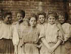 1909 GEORGIA COTTON MILL GIRLS CHILD LABOR PHOTO HINE HISTORICAL Largest Sizes