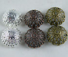 60pcs Silver/Bronze/Copper Large Flower Bead Caps 17x8mm S162-S164