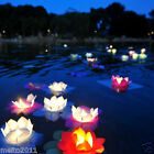 10/50/100 Paper Lotus Flower Wishing Lamp Floating Water Light Chinese Lanterns