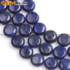"Dyed Genuine Coin Lapis Lazuli Stone Beads For Jewelry Making 15"" Jewelry Beads"