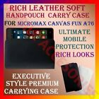 RICH LEATHER SOFT CARRY CASE MICROMAX CANVAS FUN A76 MOBILE HANDPOUCH COVER NEW