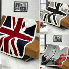 British UNION JACK or LONDON Big Ben Design Sofa / Bed Fleece Throw & Blanket