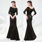 Sexy Lace Stain Mermaid Formal Ball Wedding Long Evening Party Prom Women Dress