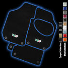 Skoda Fabia VRS Car Mats (2007 - 2015) Fully Tailored with a BLUE LEATHER TRIM