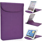 "New! Kroo Plum Flexi-Stand PU Leather Slim Travel Sleeve Case for 8 -10"" Tablets"