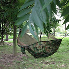 Portable Durable Camping Parachute Fabric Hammock Hanging Bed With Mosquito Net