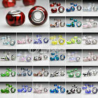 5/10pcs 5mm hole Large Hole Round Lampwork Glass Charm Bracelet European Beads
