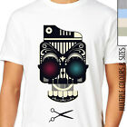 INDY HIPSTER SUGAR SKULL T-SHIRT. Day Of The Dead, Rock, Biker, Emo, Retro