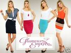 Stretch Pull On Jersey Bandage Bodycon Skirt UK 10/12 • US 8/10 24h Dispatch 772