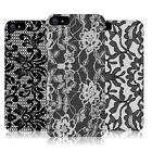 HEAD CASE DESIGNS BLACK LACE PROTECTIVE BACK CASE COVER FOR APPLE iPHONE 5 5S