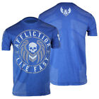 Affliction Barracks T-Shirt (Blue)  - mma bjj ufc