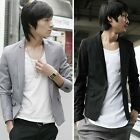 Designed Mens Casual Business Button Slim Blazer Coat Tops Outerwear Jacket XS-L