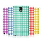 HEAD CASE DESIGNS GINGHAM PATTERN HARD BACK CASE COVER FOR SAMSUNG GALAXY NOTE 3
