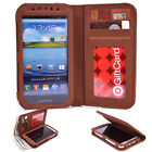 Kroo Brown Unisex Bi-Fold Smartphone PU Leather Wallet Case Card / Money Holder