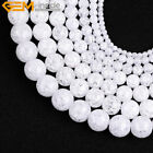 """Natural Stone Crackle Rock Crystal Quartz Gemstone Beads For Jewelry Making 15"""""""
