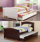 Child Youth White Cherry Wood Cottage BeadBoard Twin Single Bed Daybed & Trundle