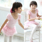 Girls Kids Leotard Ballet Tutus Pearl Elegant Dancewear Skate Dress 3-8Y Clothes