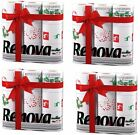 RENOVA WHITE PRINT 2 PLY CHRISTMAS XMAS TOILET BATHROOM TISSUE ROLLS TOWEL PAPER