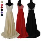 Sexy V-Neck Formal Bridesmaid Bridal Cocktail Party Prom Evening Gown Long Dress
