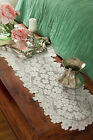 """Heritage Lace Dogwood Runner 14"""" x 53"""" - Colors: Ecru and White"""