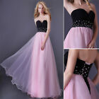 Strapless Falbala Long Maxi Wedding Bridesmaid Prom Evening Dress Cocktail Gown